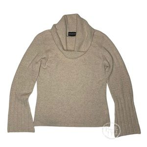 Magaschoni Cashmere Cowl Neck Bell Sleeve Sweater